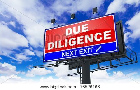 Due Diligence on Red Billboard