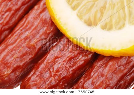 The Tasty Sausages With Lemon