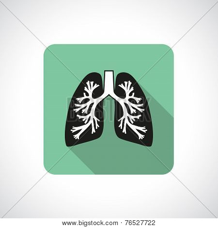 Lungs, square icon.
