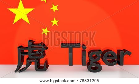 Chinese Zodiac Sign Tiger With Translation