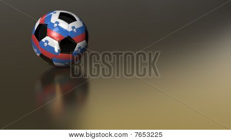 Glossy Slovenia Soccer Ball On Golden Metal