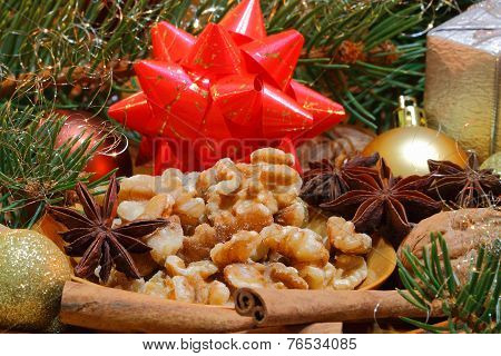 Walnuts And Star Anise