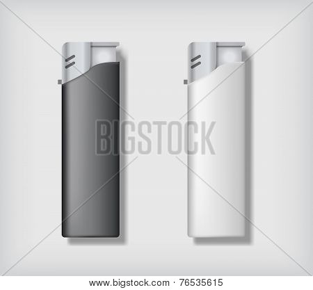 Two lighters mockup