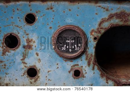 Rusty ammeter.