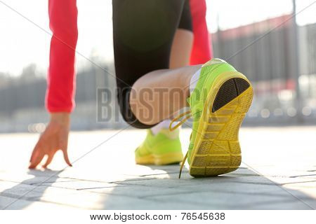 Runner in start position