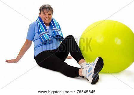 Senior Woman Having A Break