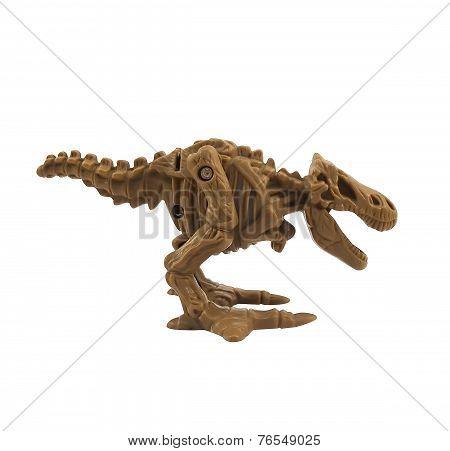 Skeleton dinosaur profile.