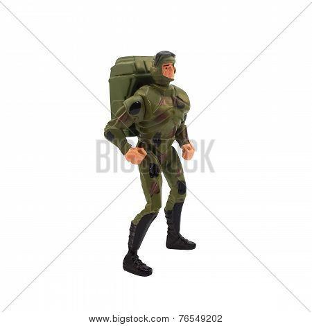 Toy marine soldier.