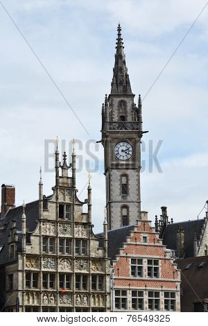Old Post Office Tower In Ghent, Belgium