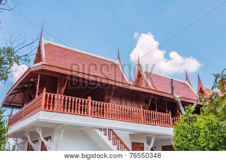 The Parsonage  Thailand Style Blue Sky Background