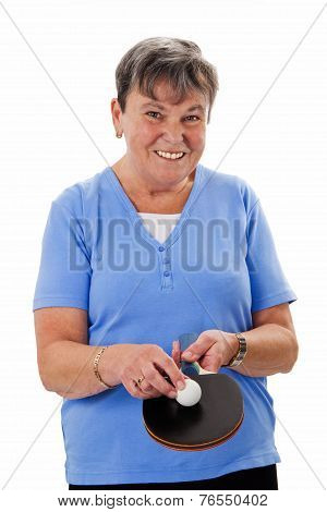 Senior Woman Playing Pingpong