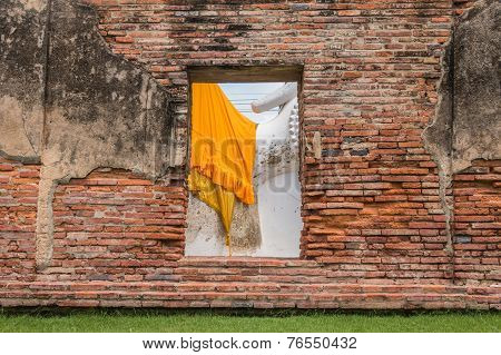 Window And Red Brick Wall Background