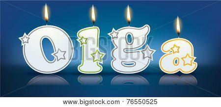 OLGA written with burning candles - vector illustration