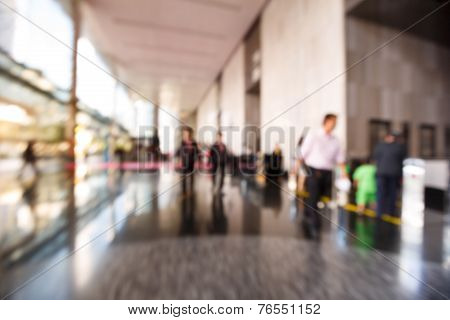 Abstract Blurred People
