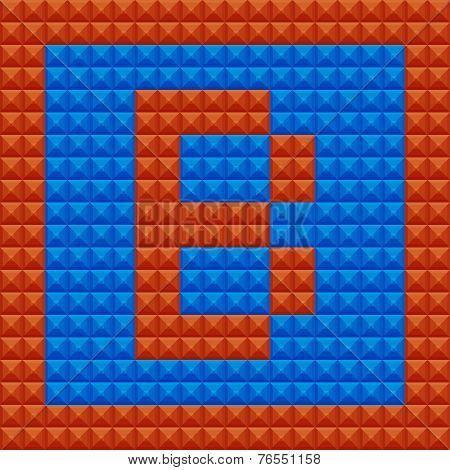 Vector Logo With Letter Alphabet B, Font In Modern Design