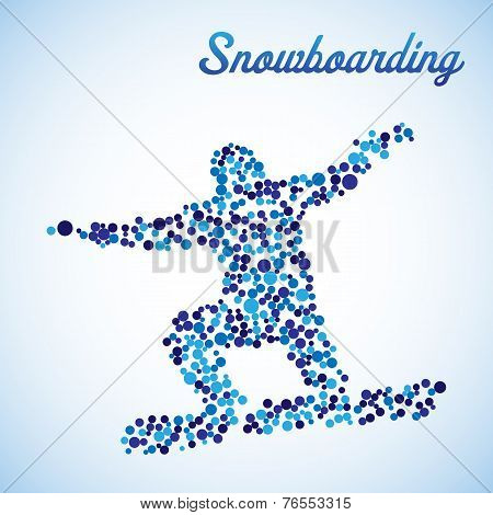 Abstract Snowboarder In Jump