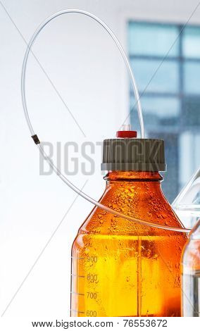 Glass Bottle With Plastic Hose