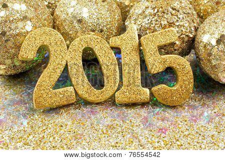 2015 golden New Years Eve decor