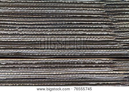 Texture Of Stacked Corrugated Cardboard