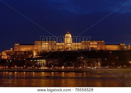 Buda Castle by the Danube river