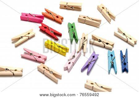 Wood Cloth Pin