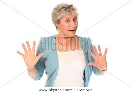 Surprised Senior Older Woman