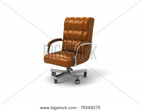 Leather Wheel Chair