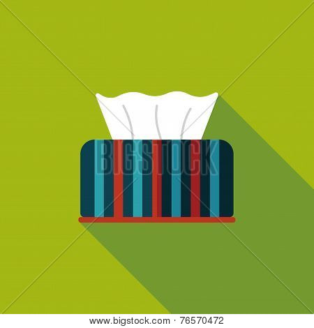 Kitchenware Tissue Paper Flat Icon With Long Shadow,eps10