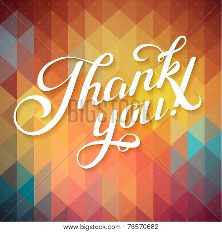 Thank You Hand Lettering Custom Handmade Calligraphy, Vector