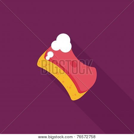 Kitchenware Scouring Pads Flat Icon With Long Shadow,eps10