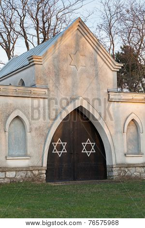 Jewish Cemetery With Stars Of David