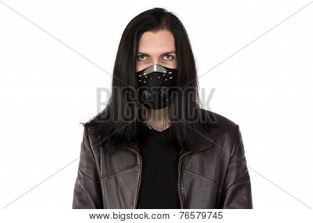 Photo of informal man with mask