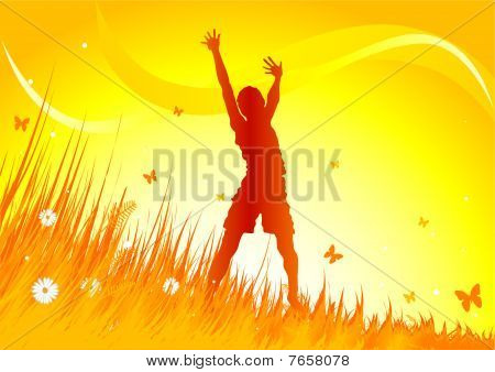 Meadow praise background