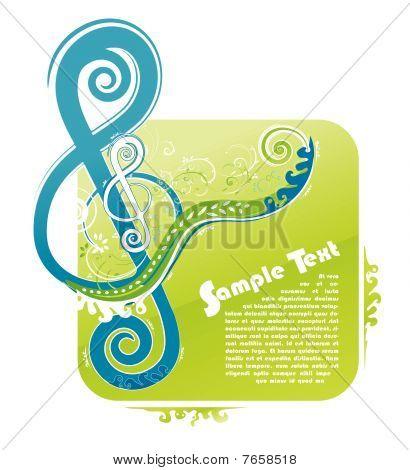 Violin key floral design