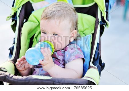 Drinking Infant Girl
