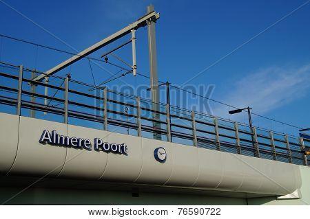 Railroad station Almere Poort - The Netherlands