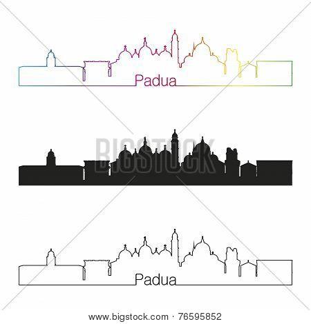 Padua Skyline Linear Style With Rainbow