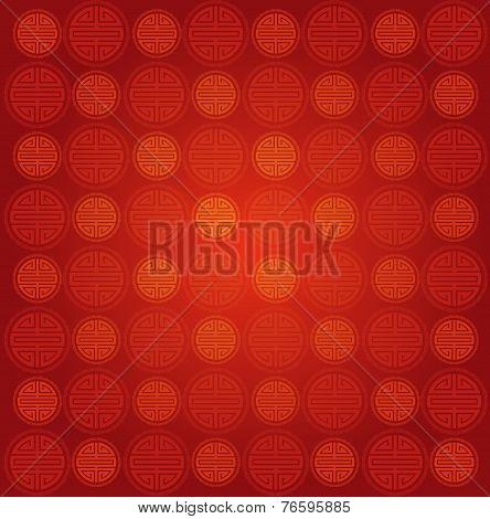 Chinese round symbol seamless pattern