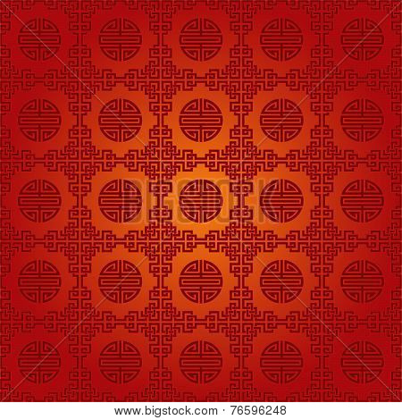 Red chinese symbol pattern