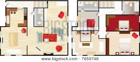 Typical Floorplan Populated House.