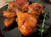 picture of marinade  - Baked chicken drumsticks in honey mustard marinade - JPG