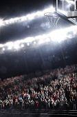 pic of basketball  - Basketball  city stadium in the bright lights - JPG