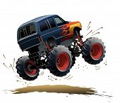 picture of bigfoot  - Cartoon Monster Truck - JPG