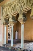 foto of arcade  - The Alcazaba is a palatial fortification in Malaga Spain - JPG