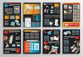 stock photo of brochure design  - Set of Flyer Design - JPG