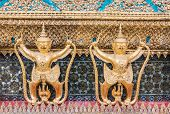 foto of garuda  - Golden Garuda of Wat Phra Kaew at Bangkok thailand - JPG