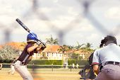 stock photo of little-league  - Kids playing Baseball in youth league for sport uses - JPG