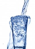 foto of peppy  - pure and clean water is filled into a glass - JPG