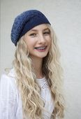 pic of braces  - Photo of beautiful young blond girl with braces - JPG