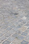 image of cobblestone  - Detail of an old street with cobblestones - JPG